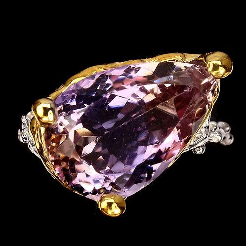 Серебряное кольцо с аметрином натуральным
