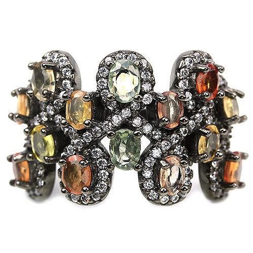Купить кольцо с цветным сапфиром. Кольцо с камнями купить