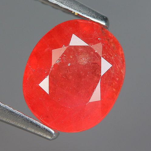 Камень Розовый сапфир натуральный 1.70 карат