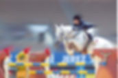 Toni with Ghandy at the 2002 World Eques