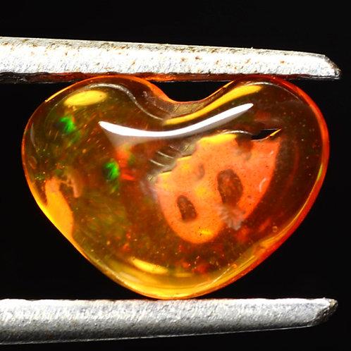 Камень огненный опал натуральный 1.44 карат