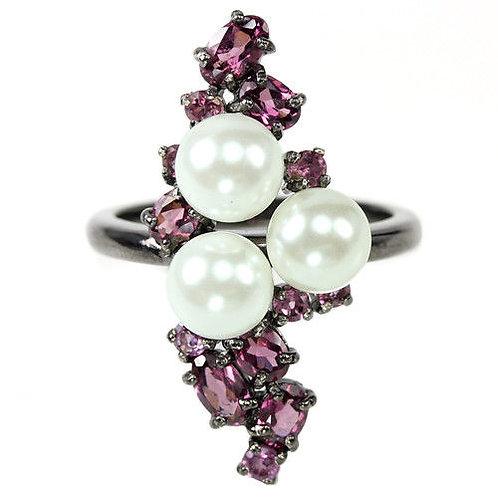 Купить кольцо с гранатом. Гранат в серебре. Кольцо с камнем
