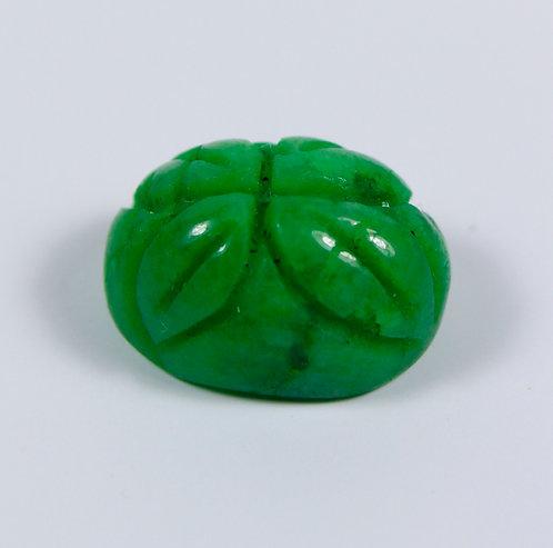 Камень зелёный берилл  натуральный 12.25 карат