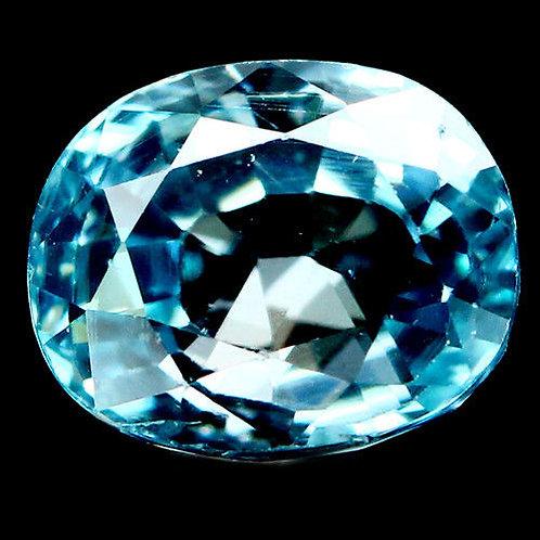 Камень голубой Циркон натуральный 3.36 карат