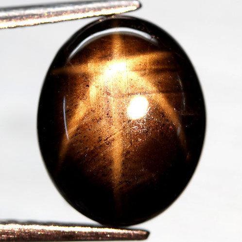 Камень звездчатый черный сапфир натуральный 4.69  карат