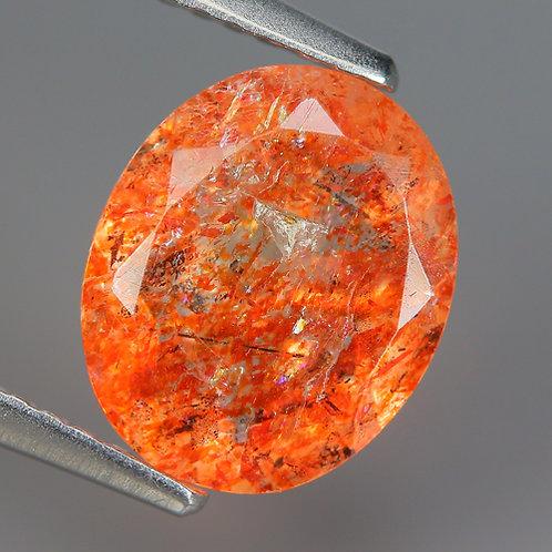 Солнечный камень натуральный 2.18 карат