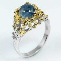 Серебряное кольцо с сапфиром натуральным