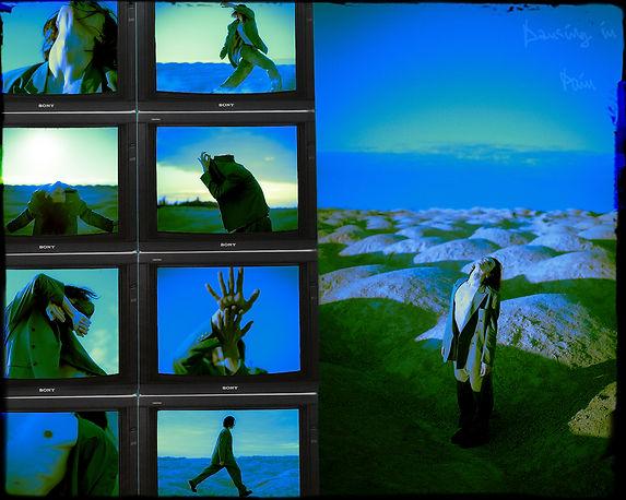 Dancing in Pain Retrofuturistic Artwork