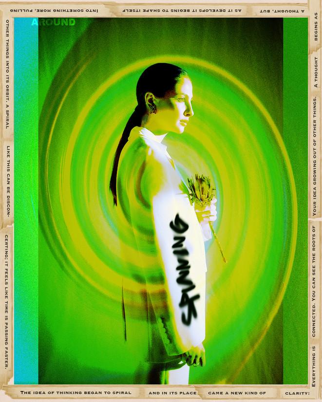 Spinning Around Digital Collage
