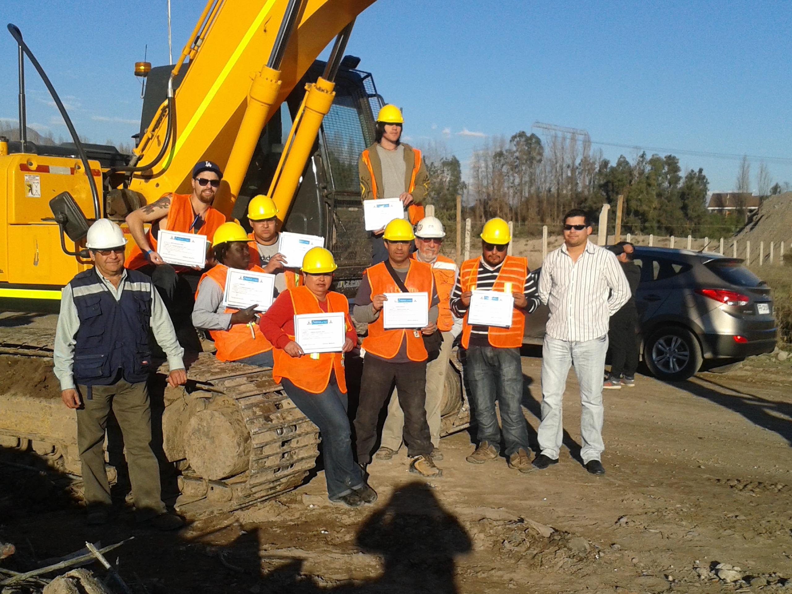 certificado curso maquinaria
