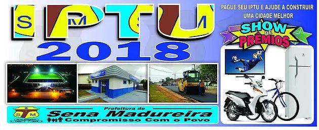 Campanha do IPTU 2018 do município de Sena Madureira