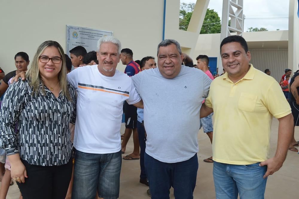 Esquerda para direita: Meire Serafim, Hermano Filho, Mazinho Serafim e Gilberto Lira