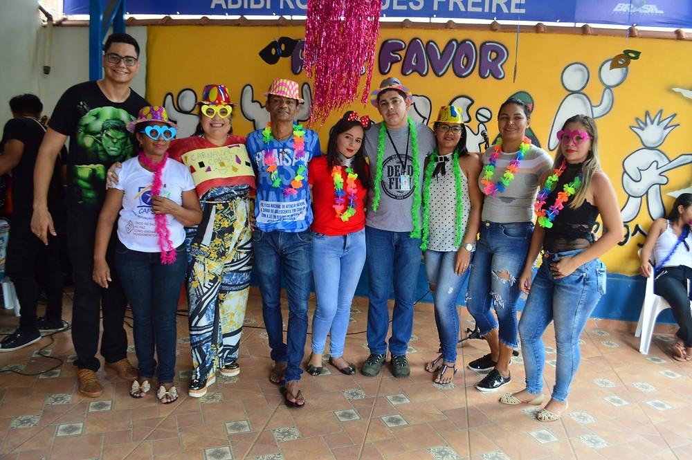 Equipe de profissionais do CAPS composta, por vários integrantes da saúde municipal (Foto: Lucas Costa/ASCOM)