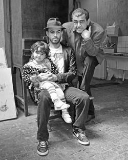Sofia, Diogo e Ivald Granato