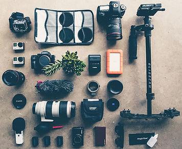 Equipo de fotógrafos, vídeo y drone