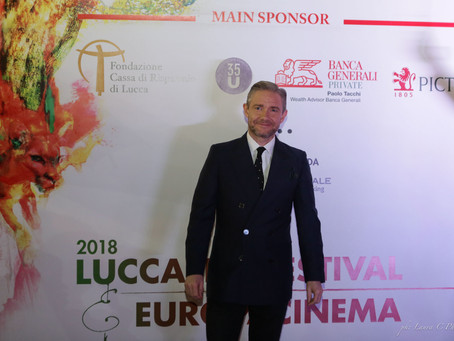 Lucca Film Festival 2018 opens with Martin Freedman on the Red Carpet!