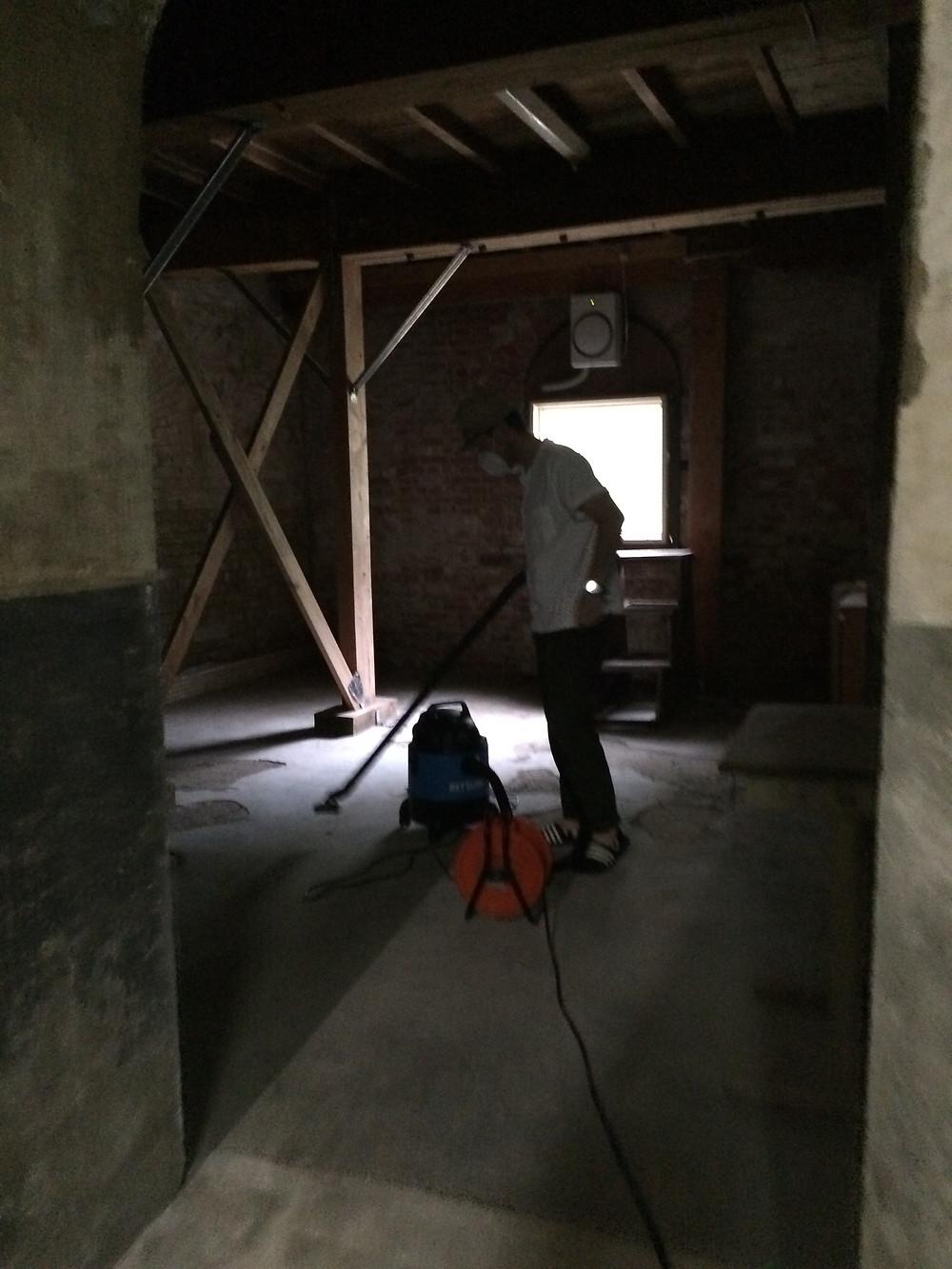 地下室の展示