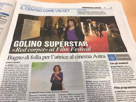 Lucca Film Festival 2017 - Actress Valeria Golino on the red carpet.....