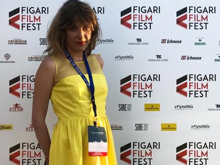 The winner of the Figari Film Festival in Olbia Sardegna 2017: Cristina Puccinelli