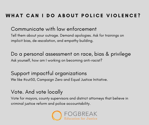 """What can I do about police violence?"" These four things..."