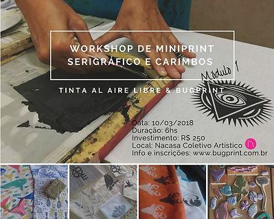 Workshop de minprint serigráfico e carimbos