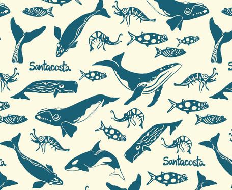 Estampa baleias