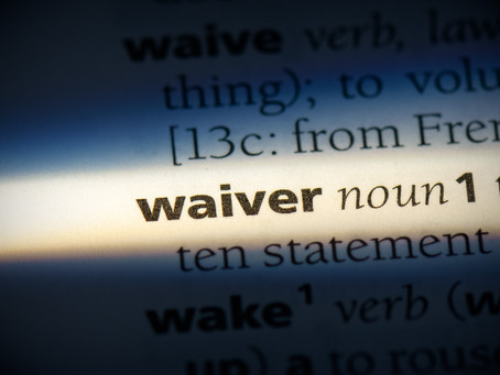 What's in a waiver?