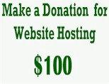 $100 Donation for Website Hosting