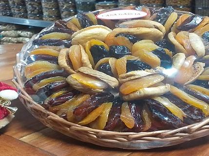 bandeja de frutas secas da casa garcia