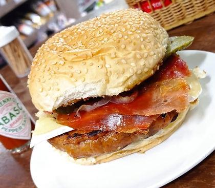 hamburguer de chouriço