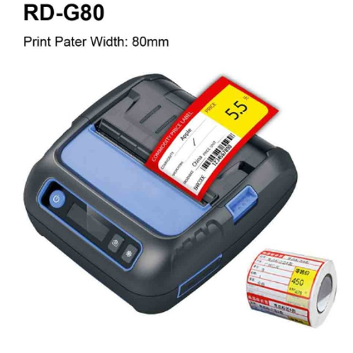 RD G80 Bluetooth POS Label Printer Portable 80mm