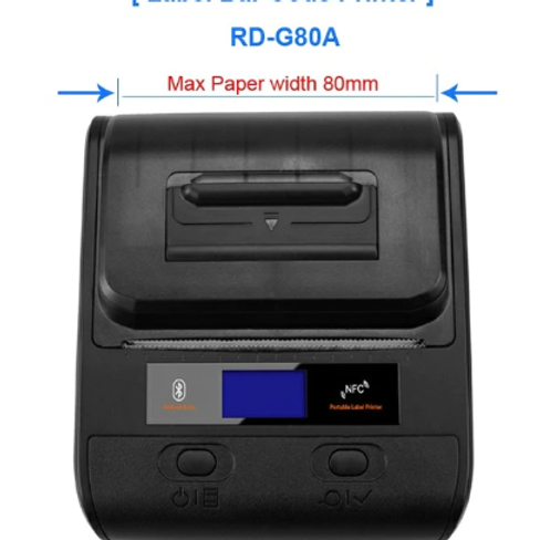 Bluetooth Direct Thermal Line POS Retail Label Printer  80mm  Rd-g80a