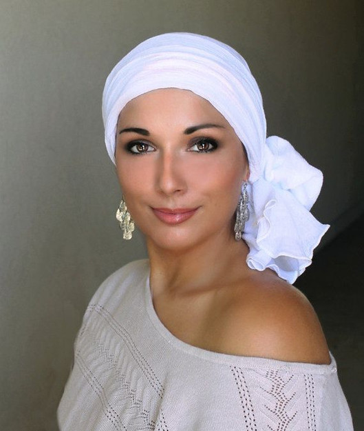 White head scarf