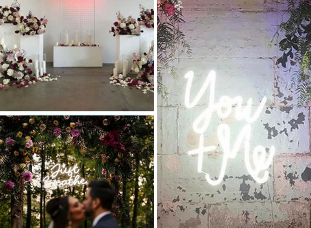 Hottest Wedding Trend of 2019: Neon Signs