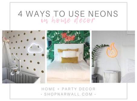 4 Ways to Use Neon Signs in Home Decor
