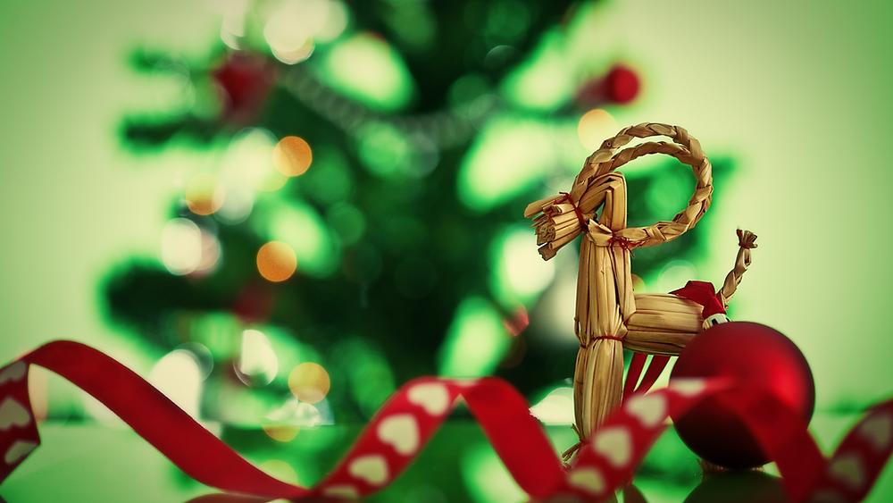 Julbock Ziegenbock Weihnachten Strohfigur
