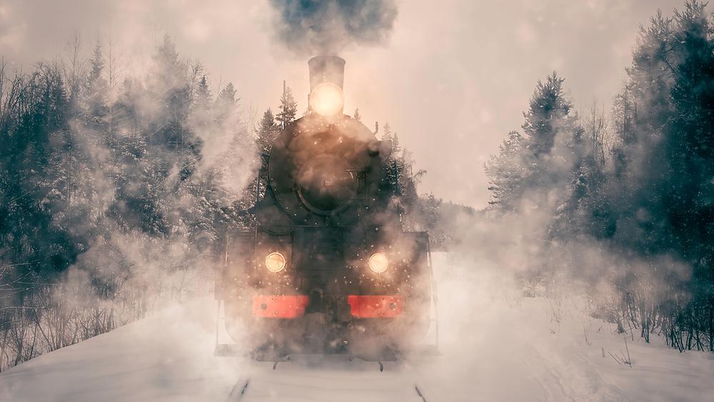 polarexpress Zug Winter