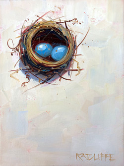 "Love Nest 9""x12"" | $280"