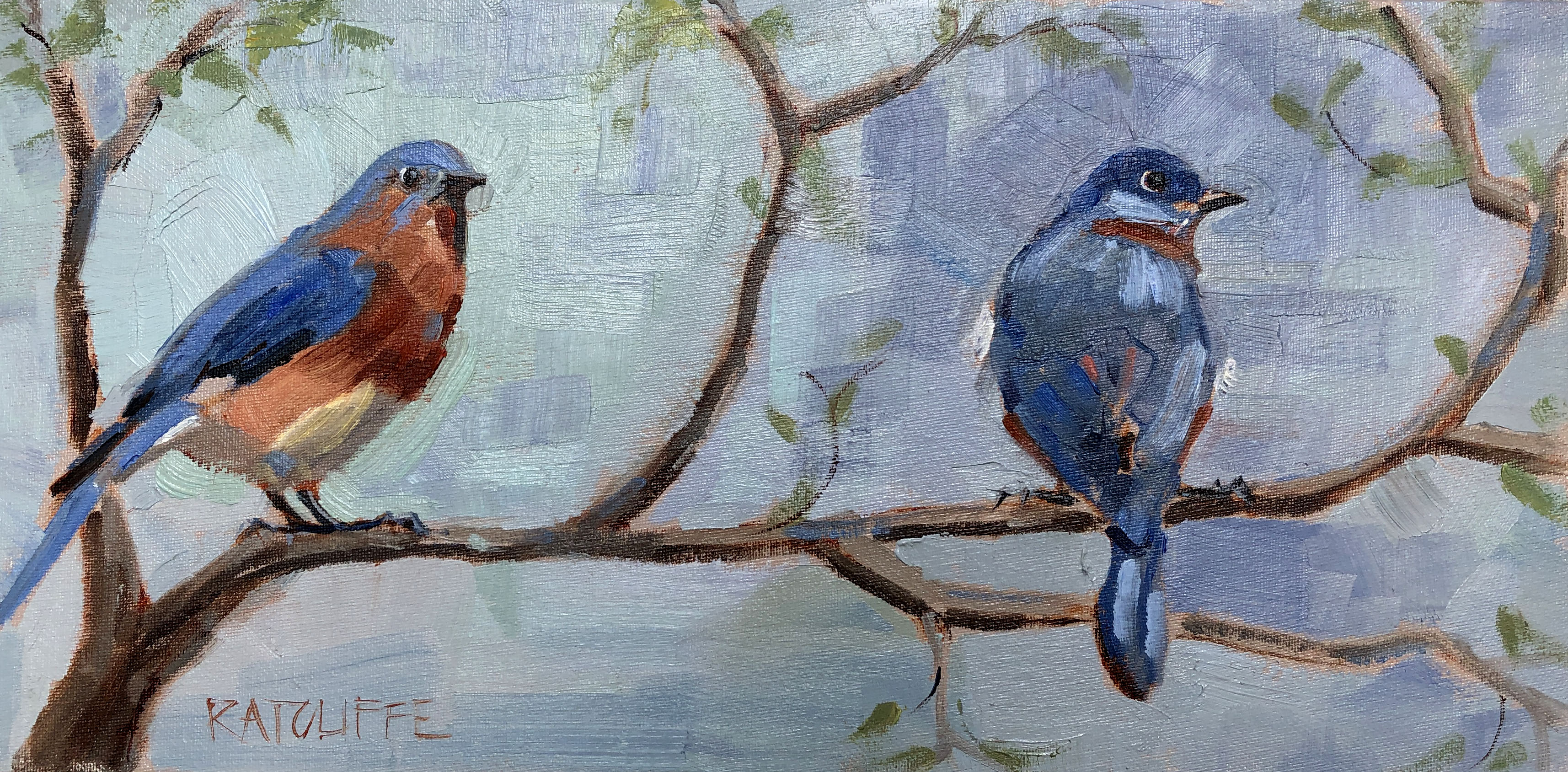 """Two Blue 16""""x8"""" 
