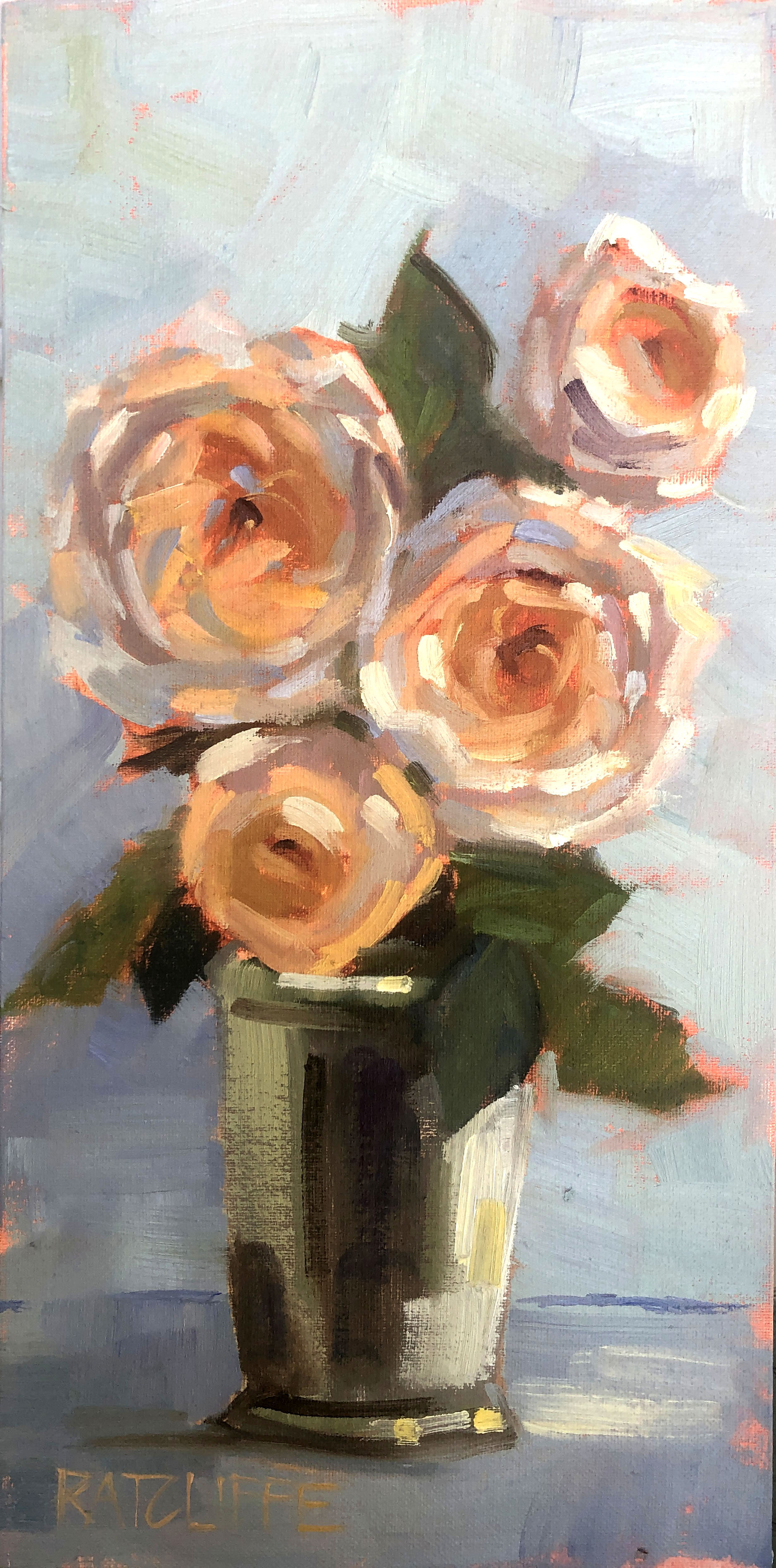 """Stand Up Roses 16""""x8"""" 