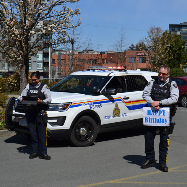 Visit from the Westshore RCMP