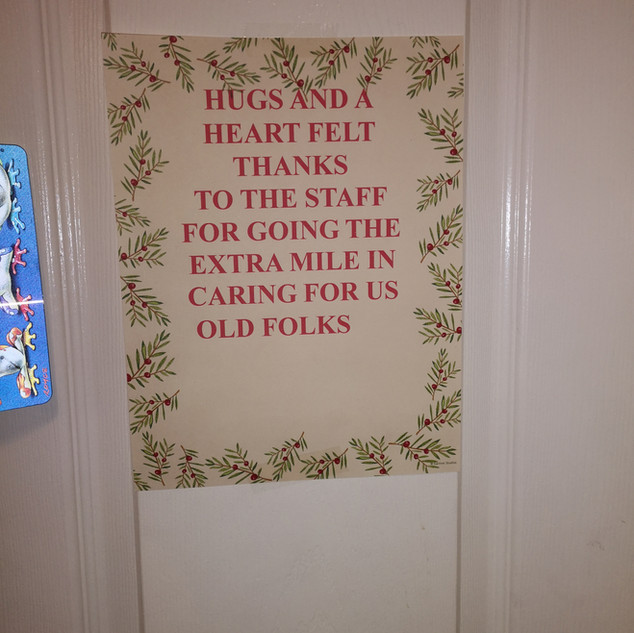 Note on a Resident's Door