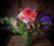 Subscription bouquet.  Dahlias, Zinnias, Snapdragon, Sunflowers, Aconitum, Amaranth, Abelia.......Fa
