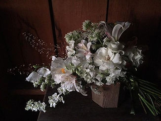 When the request is all white flowers wi