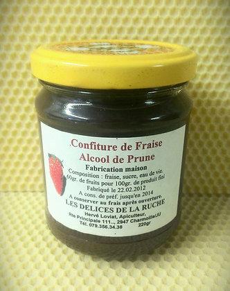 Confiture de fraise Alcool de prune