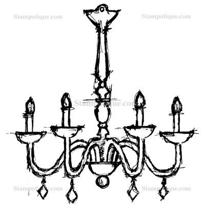 France's chandelier- France Papillon stamp