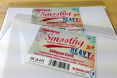 Smoothy card (heavy) ~ Paperartsy