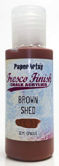 Brown shed ~ Fresco Finish Chalk paint