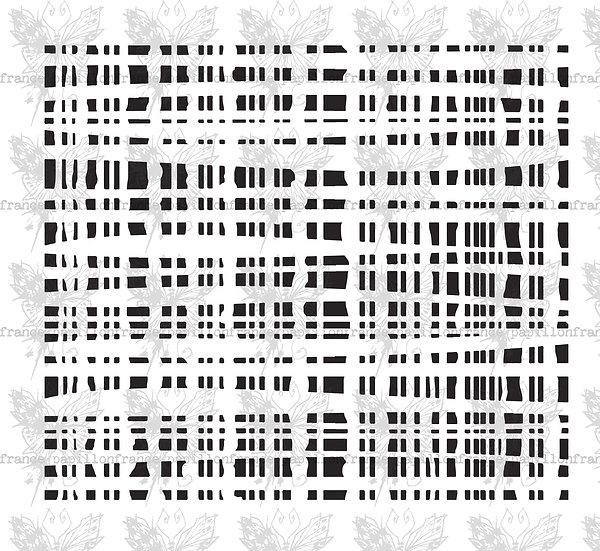 Warp grid ~ Small ~ France Papillon stencil