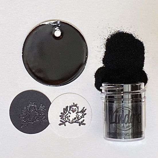 Boogie Down Black ~ Lindy's embossing powder